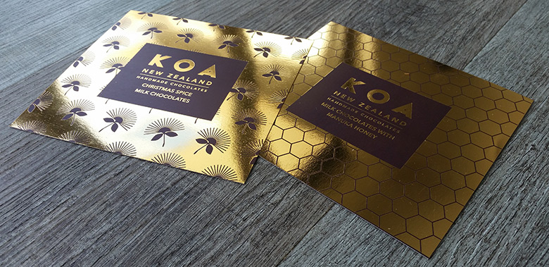 Gold foil labels auckland