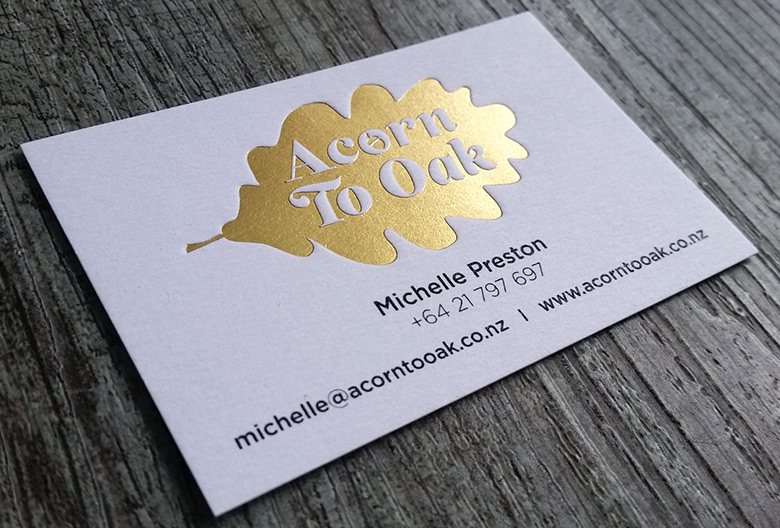 Foil printed business cards new zealand fancy high end busines silver foil business cards auckland brushed gold foil reheart Choice Image