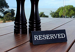 catering hospitality signs reserved