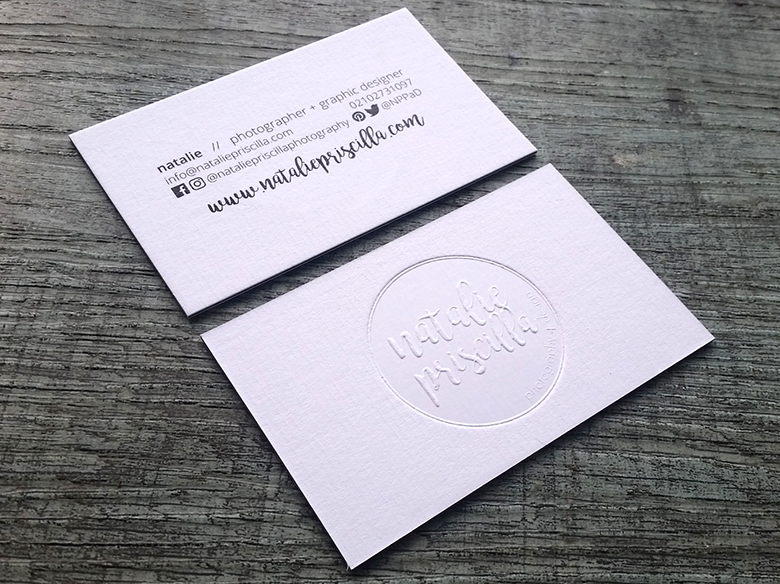 nz embossed cards