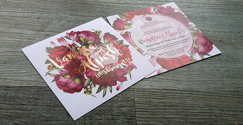 Foil Printed Wedding Invitations, New Zealand, Silver Gold ...