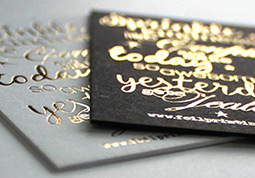 Foil printing by pinc wedding invitations luxury business cards hot foil stamping business cards auckland reheart