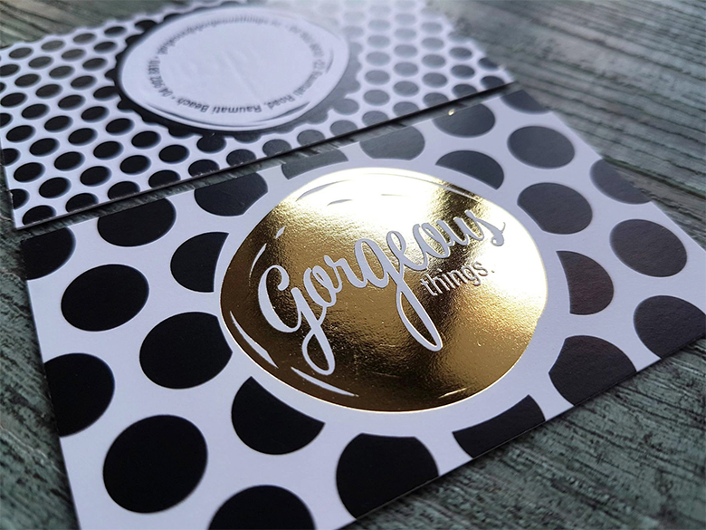 Foil Printed Business Cards New Zealand Fancy High End Busines