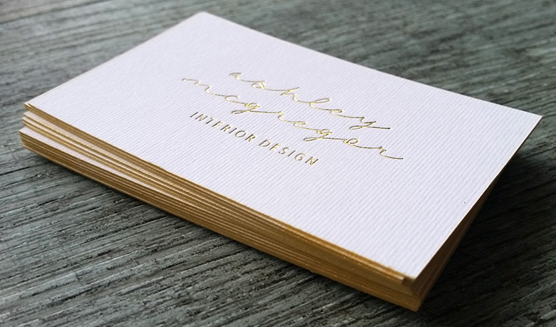 gold edged cards