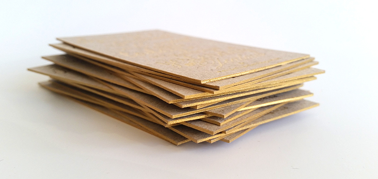 coloured gold sides on business cards