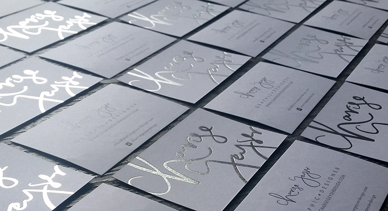 silver foil business cards auckland