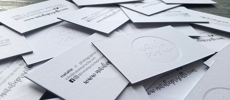 embossed business card nz