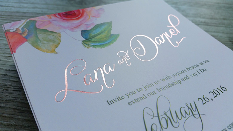 Foil Printed Wedding Invitations New