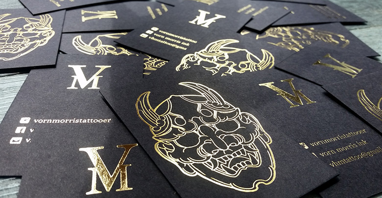 tattoo artist business card ideas